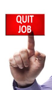Quit job button